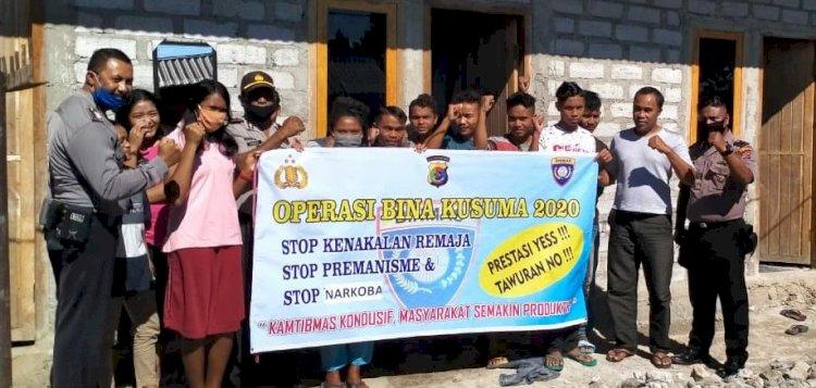 OPS Bina Kusuma Turangga 2020 , Personel Polres Manggarai Lakukan Sosialisasi