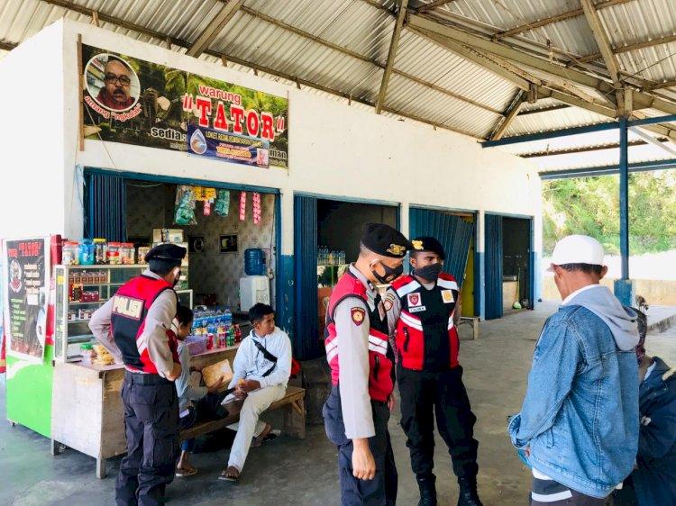 Datangi Terminal Carep, Sat Samapta Sampaikan Himbauan .