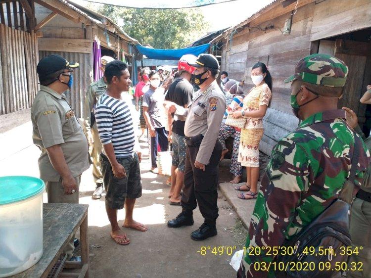 Sambangi Pasar, TNI-Polri bersama Polpp Lakukan Operasi Yustisi.