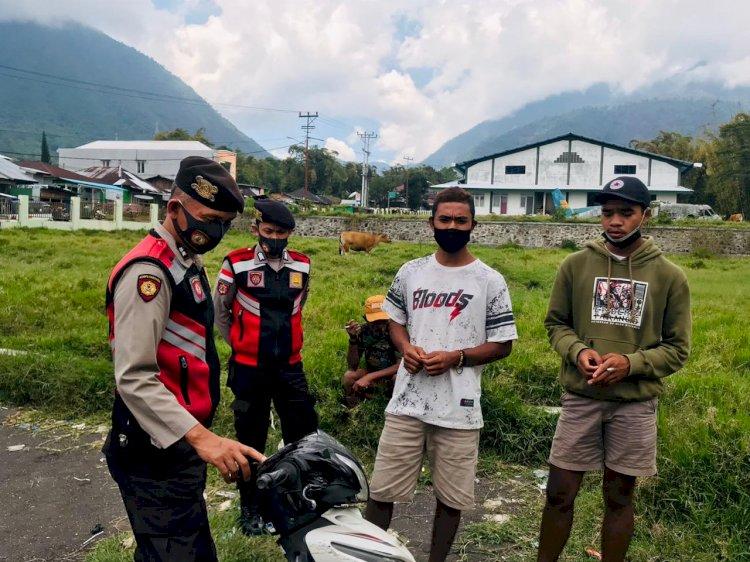 Sat Samapta Polres Manggarai Laksanakan Patroli Dialogis