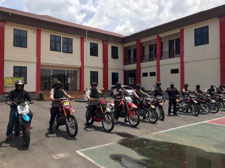 Kapolres Manggarai Pacu Adrenalin dengan Patroli Sepeda Motor Jelajahi Wilayah Satarmese Barat.