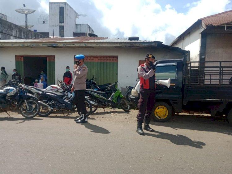 Himbauan Kepada Masyarakat Di Pasar Cancar