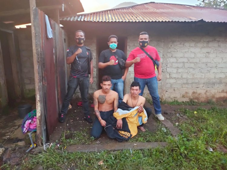 Unit Jatanras Polres Manggarai Menangkap 2 Orang DPO Pelaku Dalam Kasus Pencurian