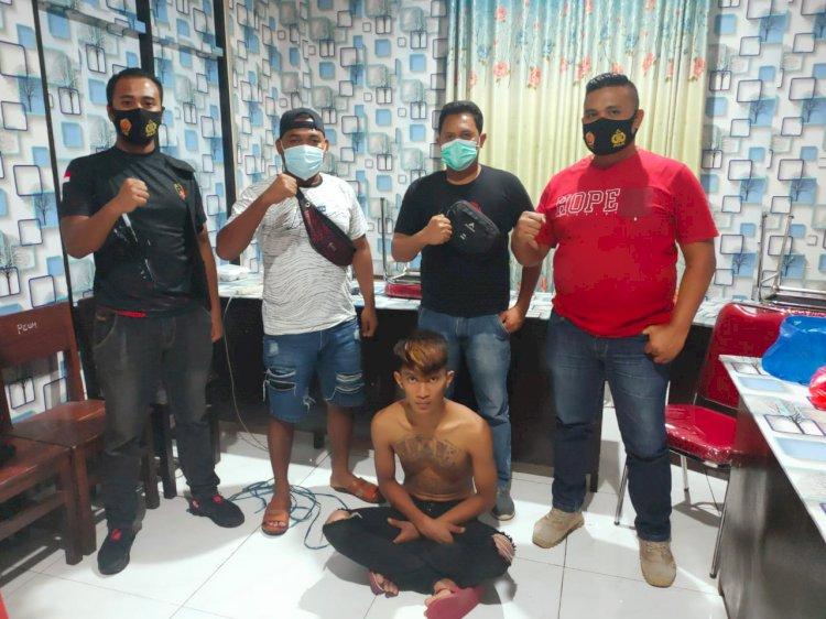 Penangkapan pelaku pencurian HP oleh Jatanras Polres Manggarai.