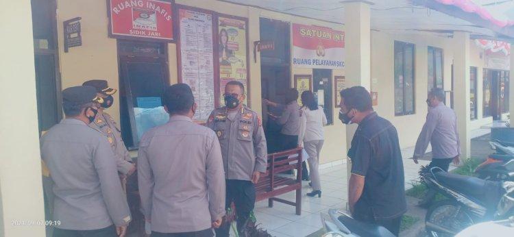 Kunjungan Karo Rena Polda NTT Di Polres Manggarai