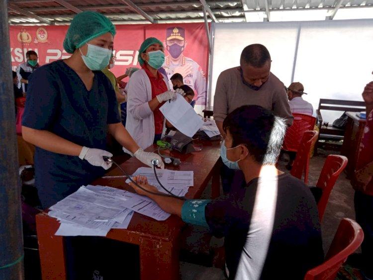 Vaksinasi Covid-19 Tahap Kedua Polres Manggarai