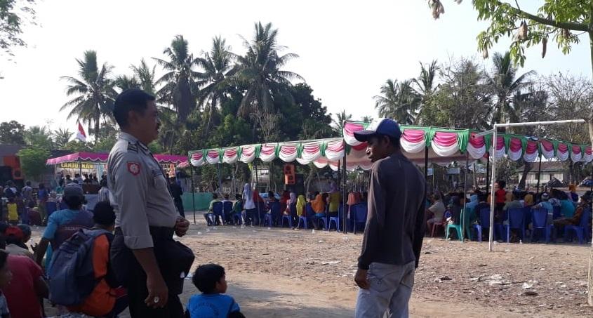 Kanit Binmas Polsek Sambi Rampas, Amankan Kampanye Pilkades Desa Nanga Mbaur