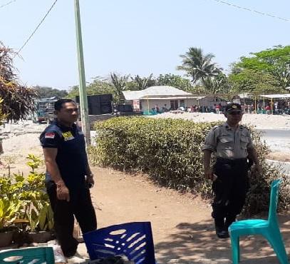 Kanit Samapta Polsek Borong Pimpin Pengamanan Kampanye Pilkades Desa Golo Kantar