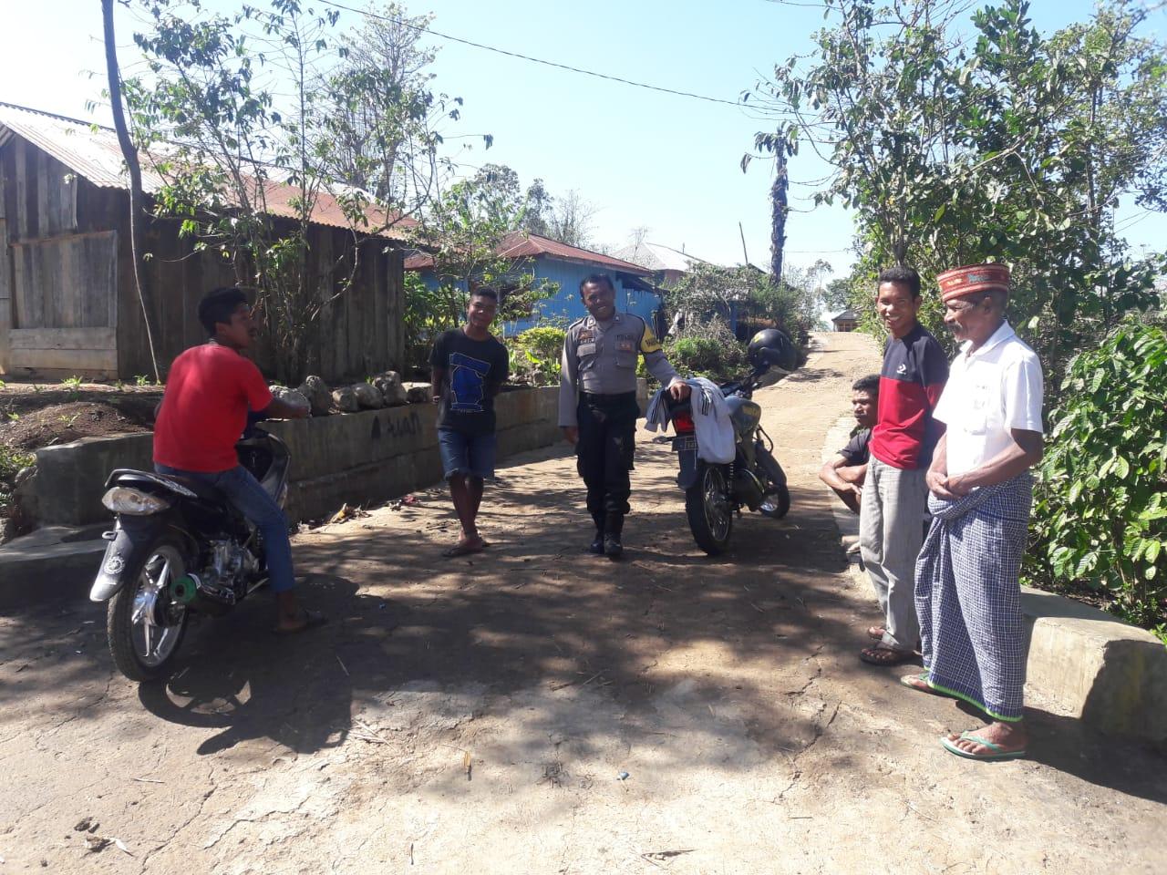 Bhabinkamtibmas Desa Pong La'o, sambangi warga binaan