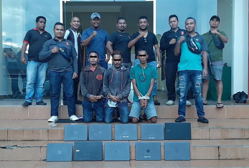 Gabungan Unit Jatanras Polres Manggarai dan Polres Mabar Berhasil Mengamankan Pelaku Pencurian 11 Unit Laptop