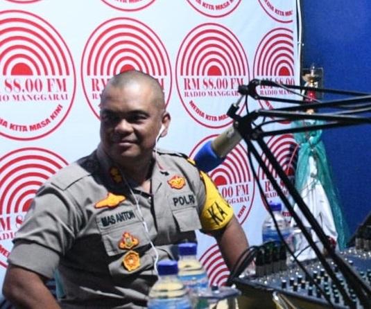 Antisipasi Merebaknya Covid – 19 | Kapolres Manggarai On Air di Radio Manggarai RM 88.00 FM  dan Radio Ntala Gewang