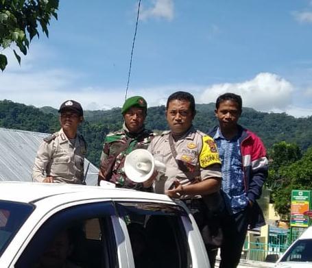 Bhabinkamtibmas Desa Buar Sosialisasi Covid - 19 di Dusun Ntala